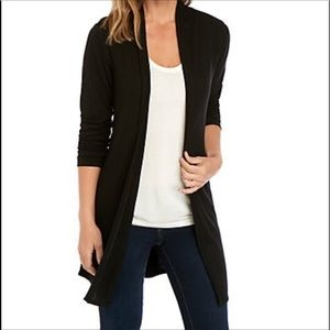New Directions Black Open Front Duster